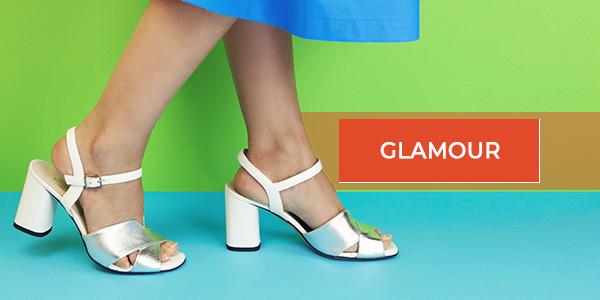 sandali in vera pelle bianco e argento